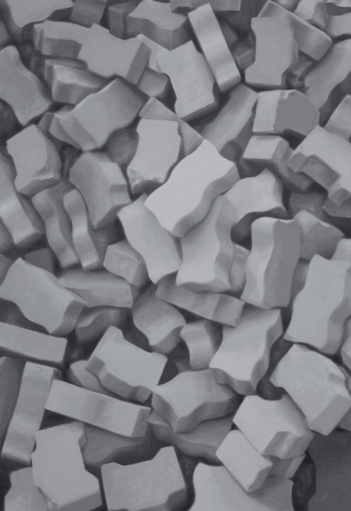 Ein Haufen Steine (Alles hat eine Bedeutung Nr. 4) 2013 | Acryl auf Leinwand | 160 x 110 cm