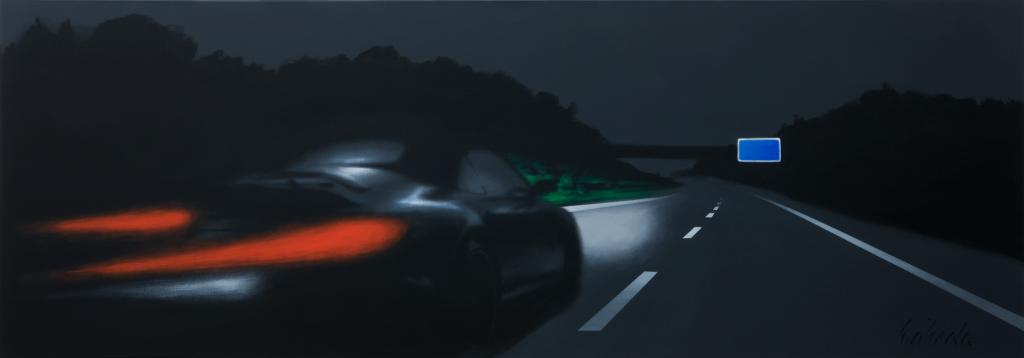 Bei Nacht | 2009 | Acryl auf Leinwand | 70 x 200 cm