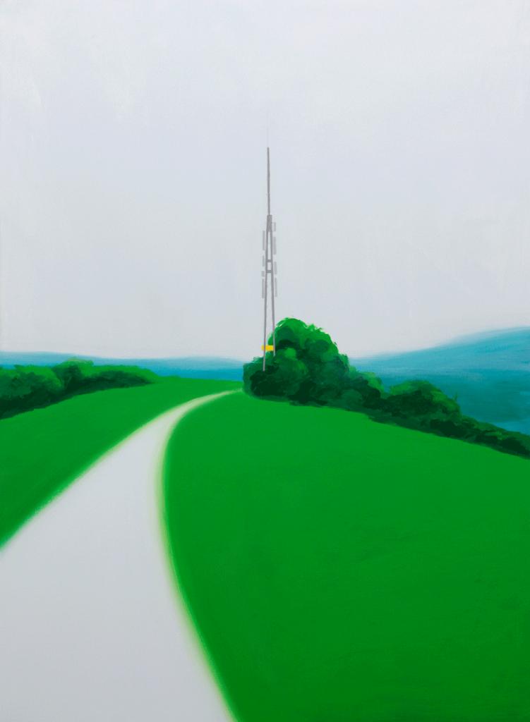 Der Mast | 2006 | Acryl auf Leinwand | 160 x 110 cm