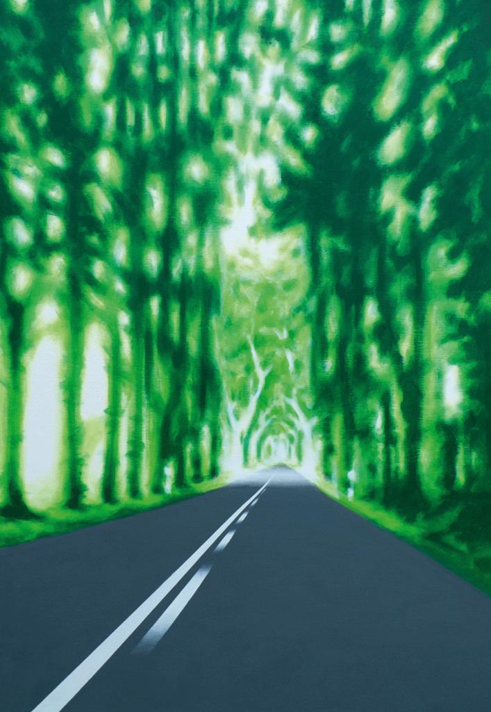 Die Allee | 2010 | Acryl auf Leinwand | 100 x 70 cm