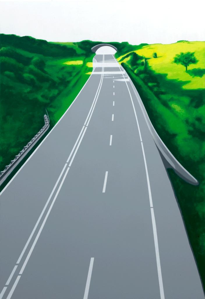 Die Brücke Nr. 2 | 2009 | Acryl auf Leinwand | 160 x 110 cm