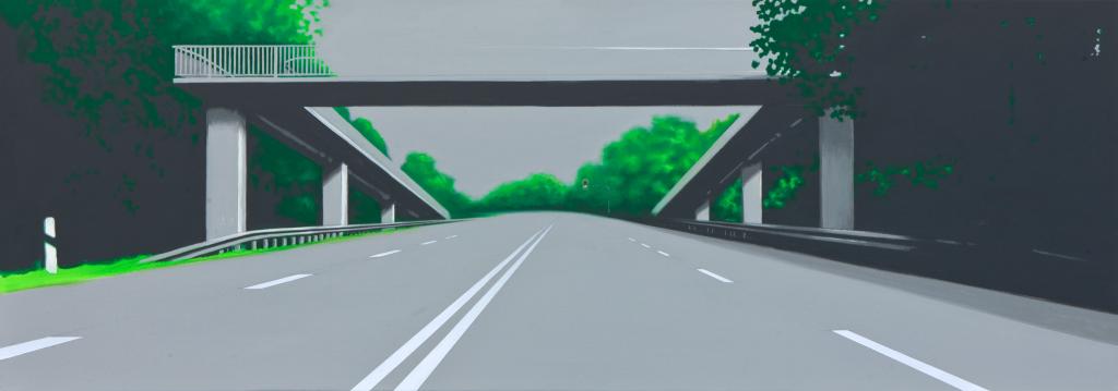 Die Brücke Nr. 3 | 2011 | Acryl auf Leinwand | 70 x 200 cm | •