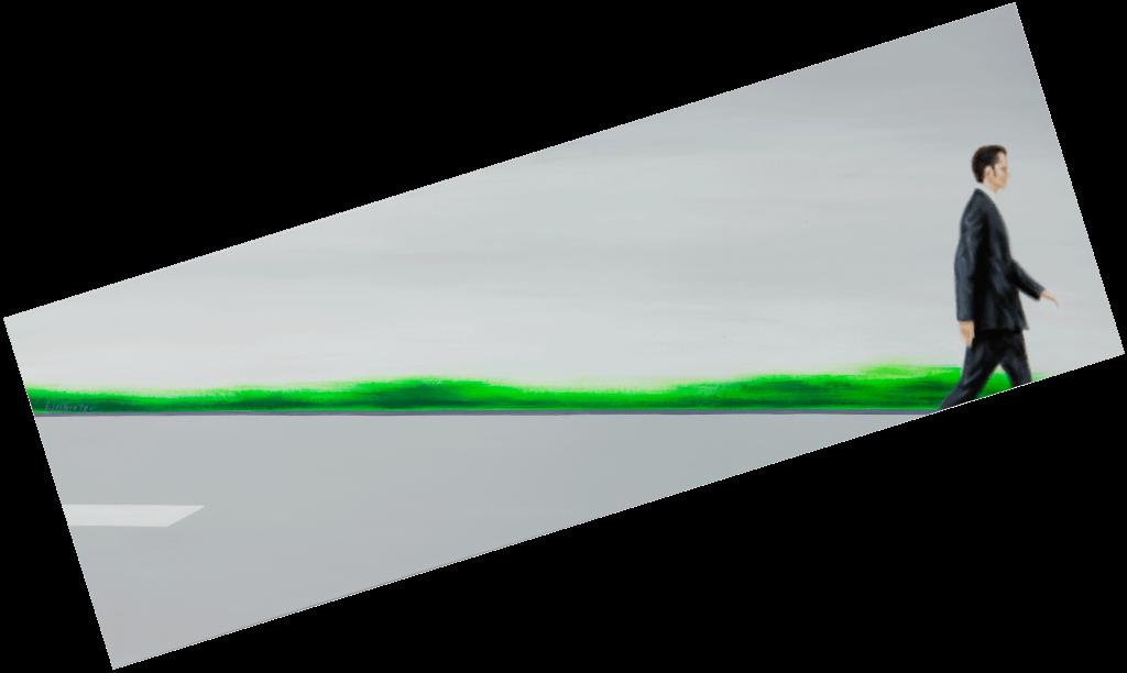 Im Gleichgewicht | 2009 | Acryl auf Leinwand | 70 x 200 cm