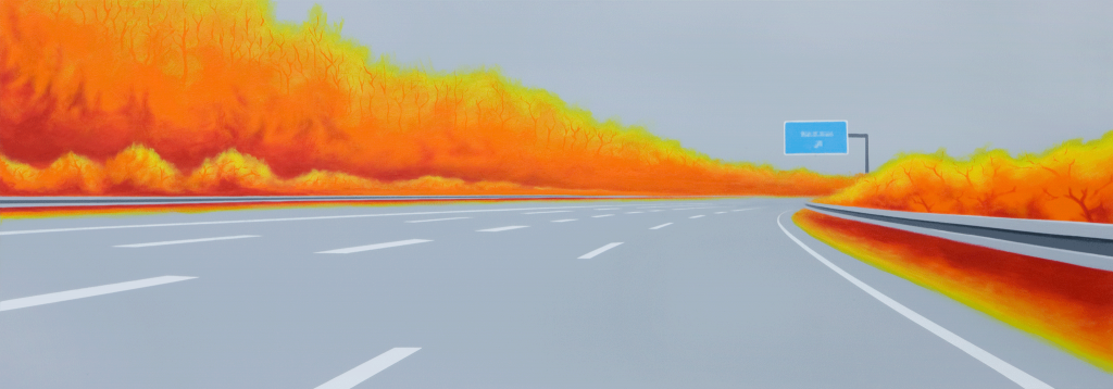 Indian Summer | 2009 | Acryl auf Leinwand | 70 x 200 cm