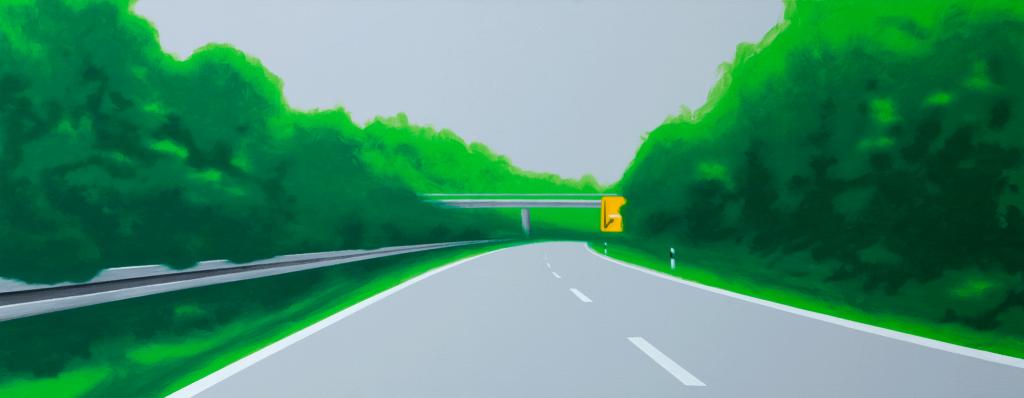 The Pleasant Way | 2008 | Acryl auf Leinwand | 70 x 200 cm