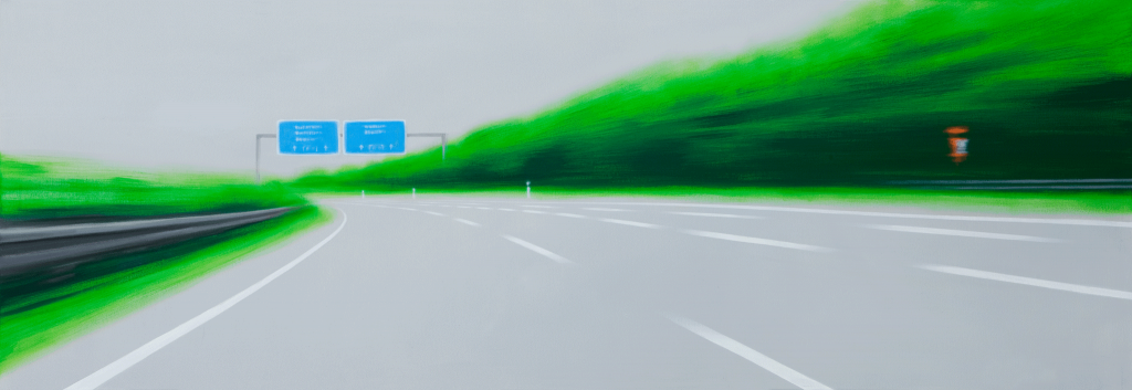 The Fast Way | 2009 | Acryl auf Leinwand | 70 x 200 cm
