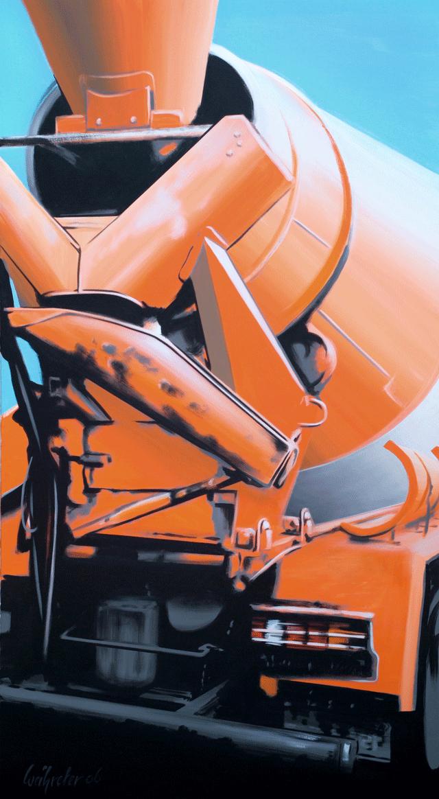 Betonmischer | 2005 | Acryl auf Leinwand | 200 x 110 cm