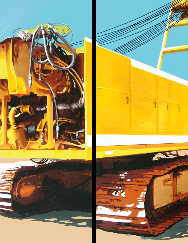 Episode 1 | 2005 | Acryl auf Leinwand | 200 x 150 cm (Diptychon)