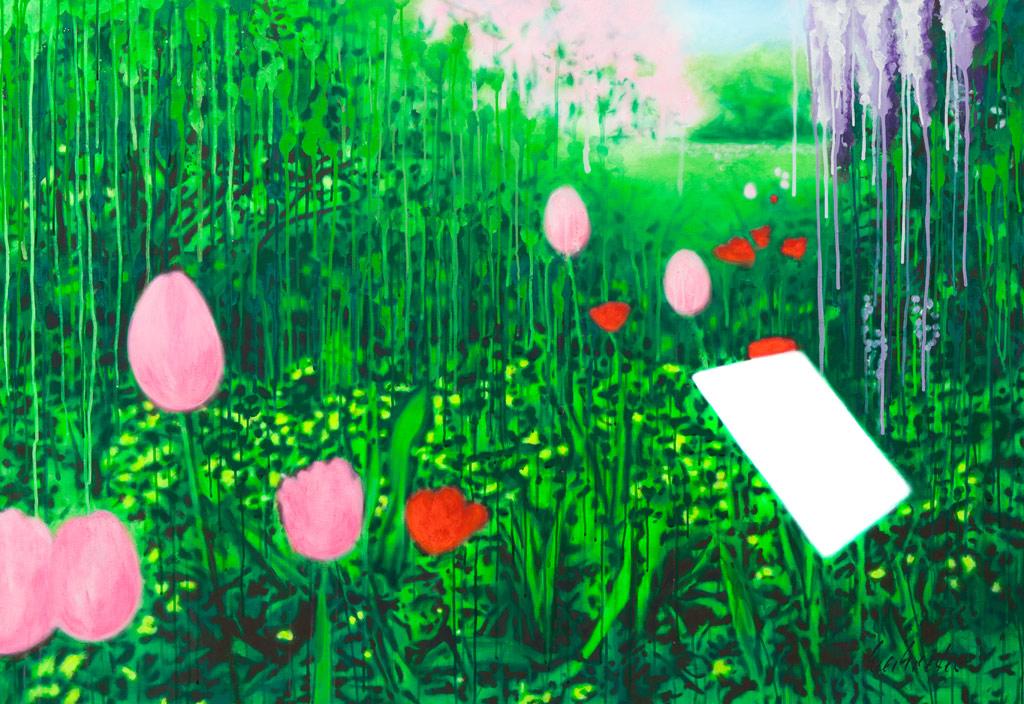 Anweisungen für ein besseres Leben | 2011 | Acryl auf Leinwand | 110 x 160 cm | •