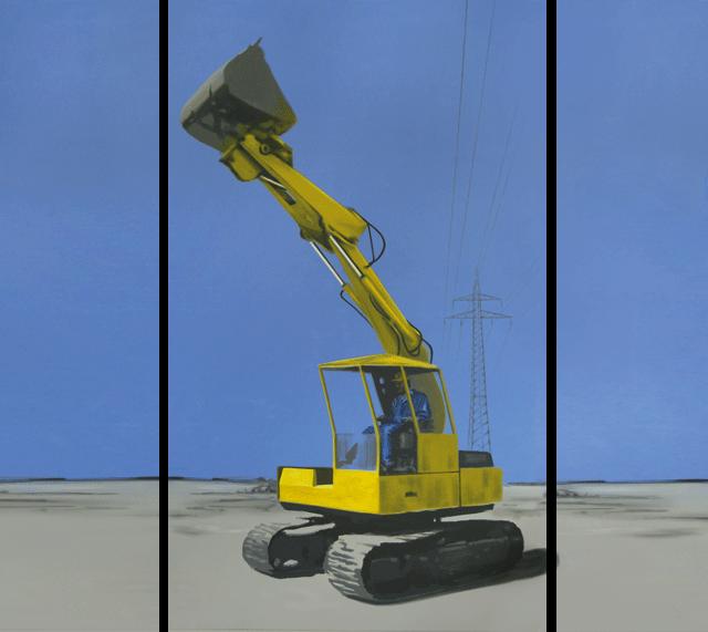 Die Einsamkeit ist nicht das eigentliche Problem | 2009 | Acryl auf Leinwand | 250 x 280 cm (Triptychon)
