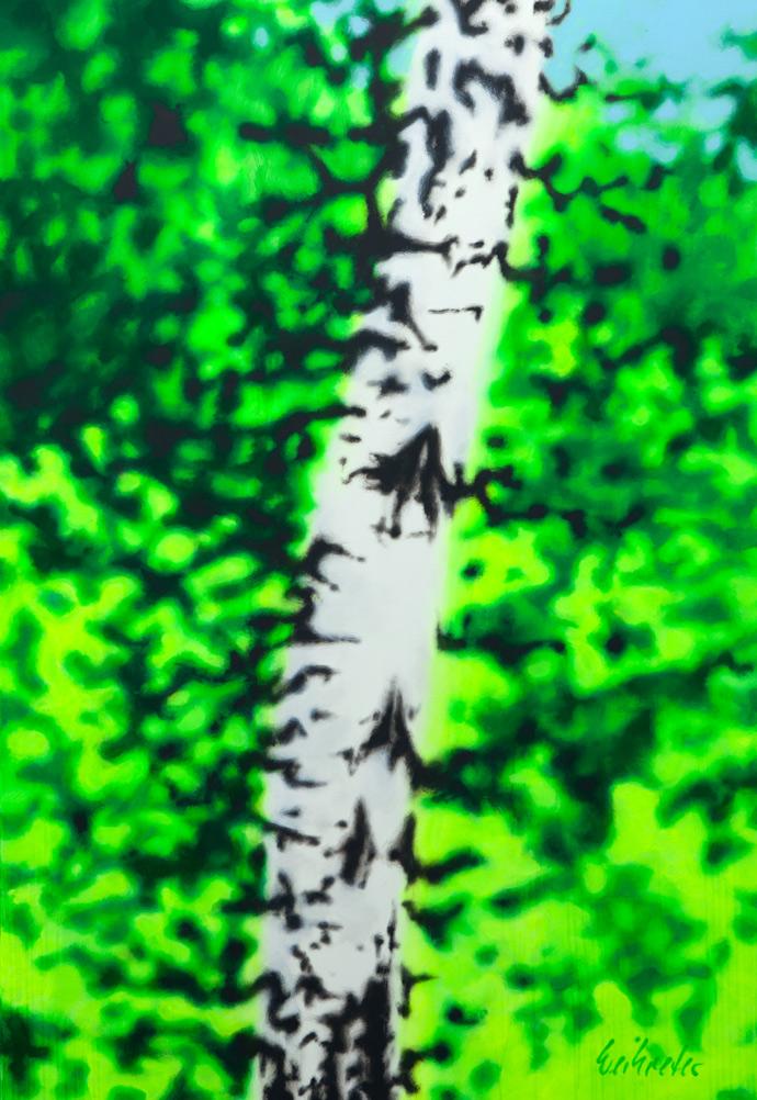 Eine Birke ist eine Birke ist eine Birke ist eine Birke | 2011 | Acryl auf Leinwand | 160 x 110 cm