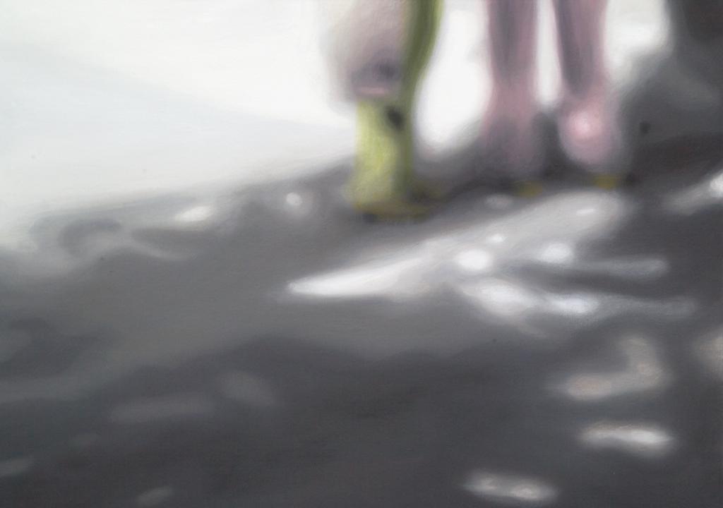 Sofies Welt zwei (Schnappschuss von Sofie mit 3-Jahre) | 2008 | Öl auf Leinwand | 50 x 70 cm