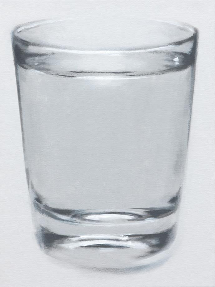 Glas Wasser | 2013 | Acryl auf Leinwand | 40 x 30 cm