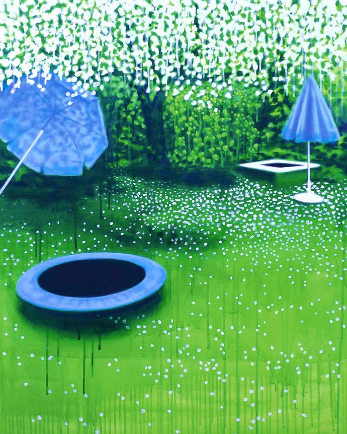 Die Grundformen des Gartens | 2011 | Acryl auf Leinwand | 80 x 100 cm | •