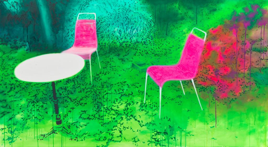 Im Garten {für Toni) | 2011 | Acrvl auf Leinwand | 110 x 200 cm