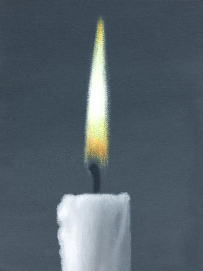 Kerze | 2013 | Acryl auf Leinwand | 40 x 30 cm|