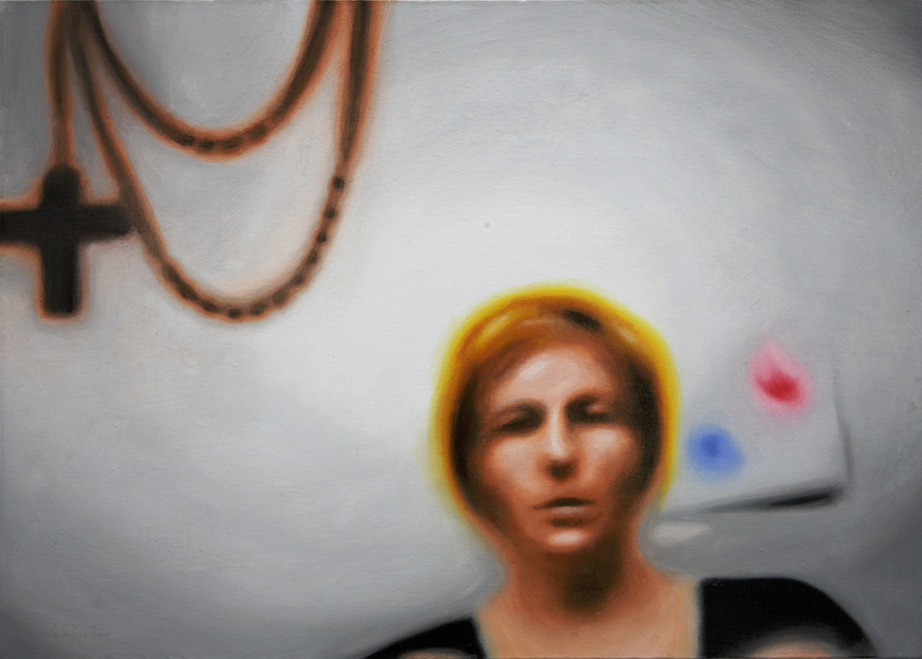 Sofies Welt sechs (Schnappschuss von Sofie mit 3-Jahre) | 2008 | Öl auf Leinwand | 50 x 70 cm