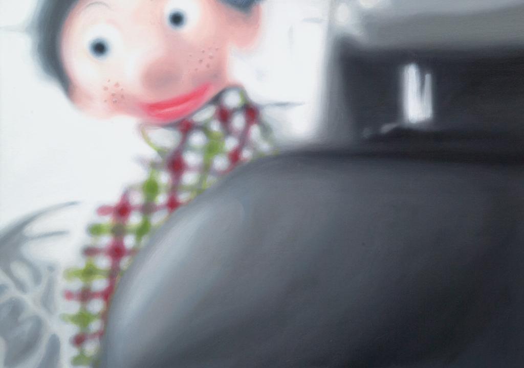 Sofies Welt vier (Schnappschuss von Sofie mit 3-Jahre) | 2008 | Öl auf Leinwand | 50 x 70 cm