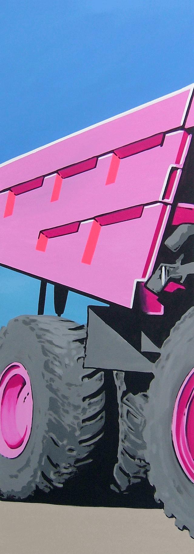 Pink Cat | 2005 | Acryl auf Leinwand | 200 x 70 cm