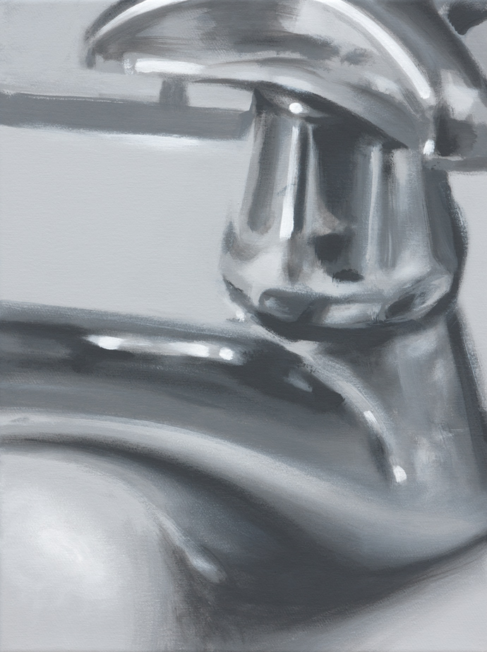 Wasserhahn | 2013 | Acryl auf Leinwand | 40 x 30 cm