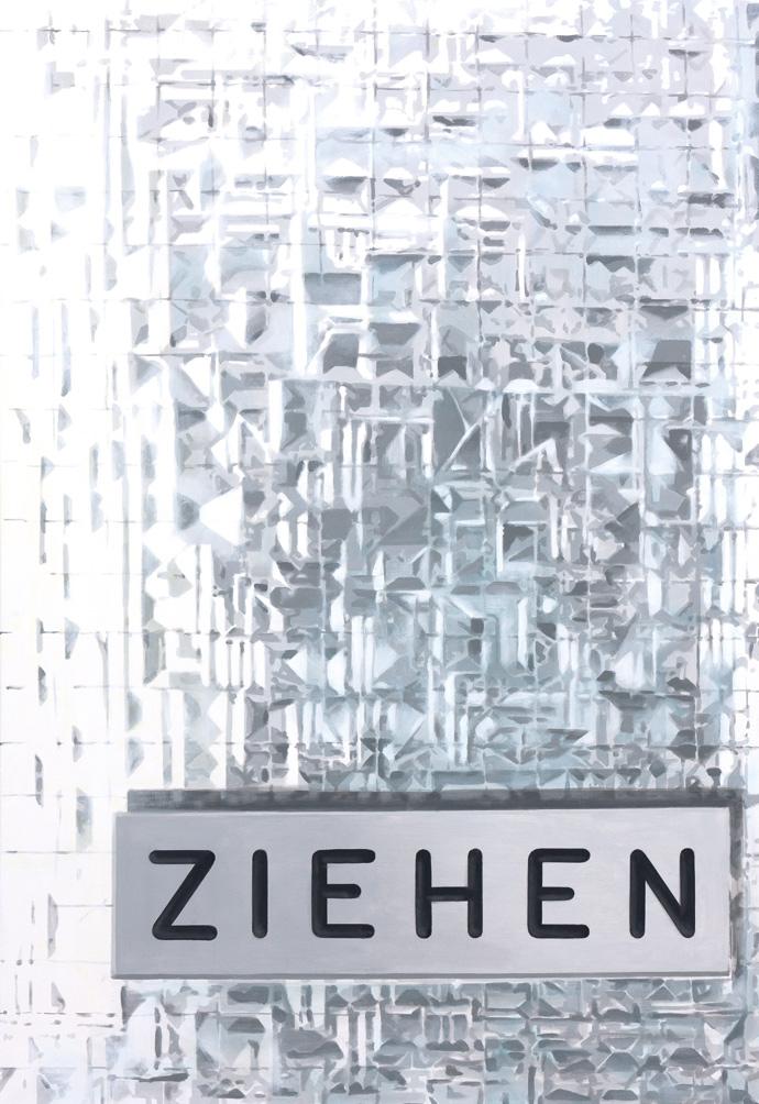 Ziehen | 2013 | Acryl auf Leinwand | 160 x 110 cm | •