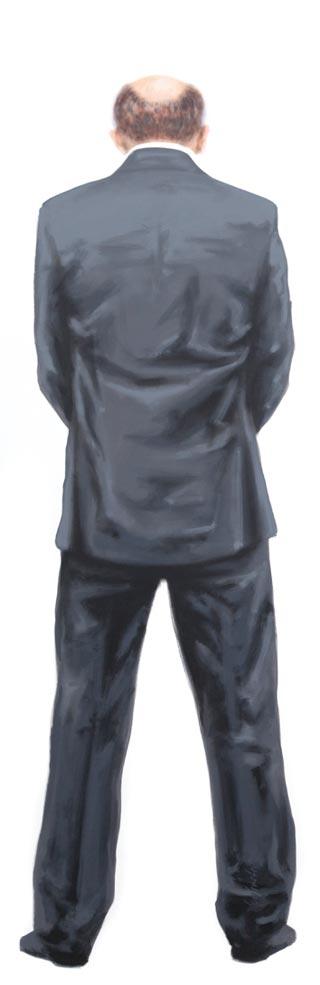 Neunter | 2014 | Acryl auf Leinwand | 200 x 65 cm