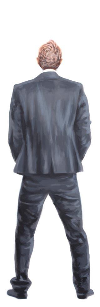 Achter | 2014 | Acryl auf Leinwand | 200 x 65 cm